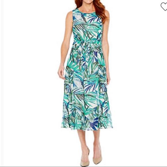 Black Label by Evan-Picone Floral Dress Size 4
